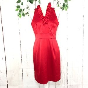 JUST TAYLOR SLEEVELESS SATIN RED DRESS SIZE 8